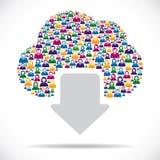 Creatief wolk gegevensverwerkingsconcept Royalty-vrije Stock Foto's