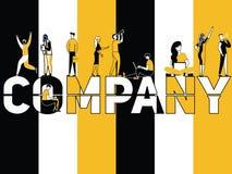 Creatief Word concept Company en Mensen die dingen doen vector illustratie