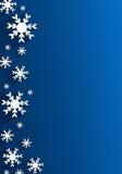 Creatieve Abstracte Sneeuwvlokkenachtergrond Royalty-vrije Stock Foto