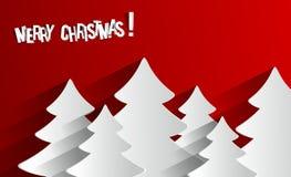 Creatieve Abstracte Vrolijke Kerstkaart Stock Afbeelding