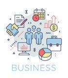 Creatieve bedrijfs en marketing conceptenillustratie royalty-vrije illustratie