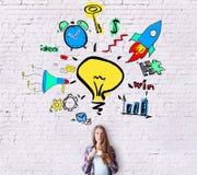 Creatieve bedrijfsideeën Stock Afbeelding