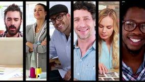Creatieve bedrijfsmensen stock video
