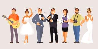 Creatieve beroepenvector royalty-vrije illustratie