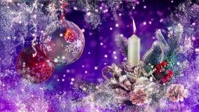 creatieve, beste Kerstmisballen stock footage