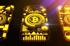 Creatieve bitcoinachtergrond Royalty-vrije Stock Foto's