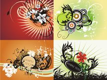 Creatieve bloemen verse grafische reeks royalty-vrije illustratie
