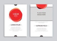 Creatieve brochuremalplaatjes Stock Afbeeldingen
