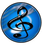 Creatieve Cirkel 3 van de Muziek Stock Afbeeldingen