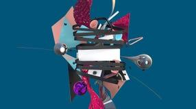 Creatieve 3D abstractie Stock Afbeeldingen