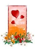 Creatieve de groetkaart van de grungeValentijnskaart met hart, vectorillus royalty-vrije illustratie