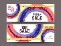 Creatieve de kopbal of de bannerreeks van de verkoopwebsite Royalty-vrije Stock Foto