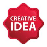 Creatieve de stickerknoop van Idee nevelige rozerode starburst royalty-vrije illustratie