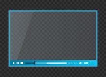 Creatieve die illustratie van Webspelers voor video, audio op transparante achtergrond wordt geïsoleerd Het ontwerp van de kunst  Stock Afbeeldingen