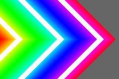 Creatieve dynamische abstracte/gloeiende neonachtergrond vector illustratie