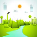 Creatieve ecologie infographic elementen vector illustratie