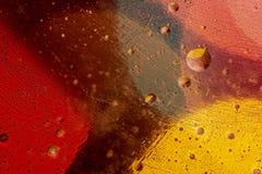 Creatieve en abstracte die watercondensations vatten achtergrond samen bij close-upvergroting wordt genomen op korrelige en kleur stock foto's