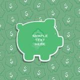 Creatieve financiën of de dekkingsontwerp van de van de besparingsgeld verwant banner of brochure Stock Foto's