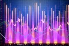 Creatieve forex grafiek Stock Foto
