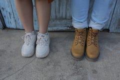 Creatieve foto's van het jonge stijlpaar over het leven en liefde royalty-vrije stock fotografie