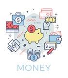 Creatieve geld en bankwezenconceptenillustratie vector illustratie