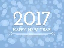 Creatieve Gelukkige Nieuwjaar 2017 achtergrond met glans Royalty-vrije Stock Fotografie