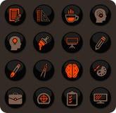 Creatieve Geplaatste Procespictogrammen stock illustratie