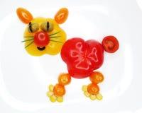 Creatieve grappige plantaardige snack met tomaat royalty-vrije stock foto's