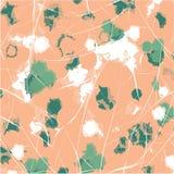Creatieve hand getrokken texturen In Grafisch Ontwerp met contour tropische bladeren Vector Eigentijds art. royalty-vrije illustratie