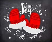 Creatieve handschoenen voor Kerstmisviering Stock Foto's