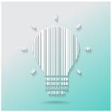 Creatieve het conceptenachtergrond van het gloeilampenidee Stock Afbeelding
