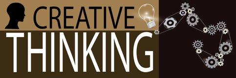 Creatieve het denken achtergrond Stock Foto's