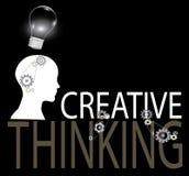 Creatieve het denken achtergrond Royalty-vrije Stock Afbeeldingen