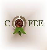 Creatieve het ontwerpvector van het koffieembleem Stock Afbeeldingen
