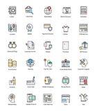 Creatieve het Winkelen en Handelspictogrammen Stock Fotografie