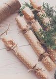 Creatieve hobby Het met de hand gemaakte suikergoed van de Kerstmisslinger van document Stock Afbeelding
