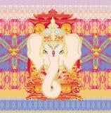 Creatieve illustratie van Hindoes Lord Ganesha Royalty-vrije Stock Foto