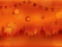 Creatieve Illustratie voor Islamitische Festivallenviering Royalty-vrije Stock Afbeeldingen