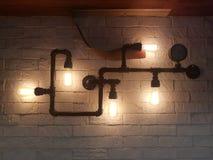 Creatieve Industriële Lamp stock fotografie
