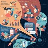 Creatieve infographic reeks Stock Foto's