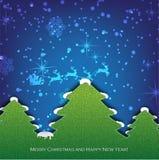 Creatieve Kerstboom die van document wordt gevormd. Stock Foto's