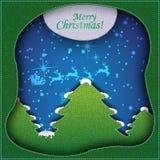 Creatieve Kerstboom die van document wordt gevormd. Stock Foto