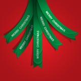 Creatieve Kerstboom die van linten wordt gevormd stock illustratie