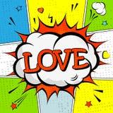Creatieve kleurrijke affiche met de het van letters voorzien liefde Stock Foto
