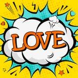 Creatieve kleurrijke affiche met de het van letters voorzien liefde Stock Fotografie