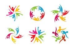 Creatieve Kleurrijke het Ontwerpillustratie van Mensenbodys Royalty-vrije Stock Foto's