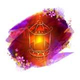Creatieve Lamp voor Islamitische Festivalviering Stock Afbeelding