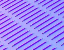 Creatieve lay-out van potlood op de trillende gewaagde achtergrond van gradi?nt purpere en blauwe holografische kleuren minimaal  stock foto's