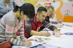 Creatieve les voor kinderen en hun ouders Royalty-vrije Stock Fotografie