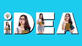 Creatieve lettersoortsamenstelling van IDEE stock afbeelding